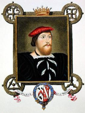 Portrait of Thomas Boleyn (1477-1539) Earl of Wiltshire from 'Memoirs of the Court of Queen Elizabet