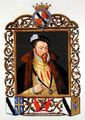 Portrait of Thomas Radcliffe (c.1526-d.1583) 3rd Earl of Sussex from 'Memoirs of the Court of Queen