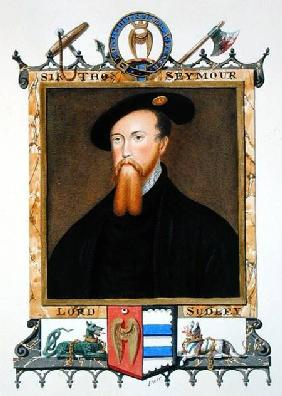 Portrait of Thomas Seymour (1508-49) 1st Baron of Sudeley from 'Memoirs of the court of Queen Elizab