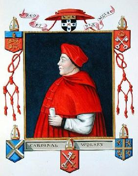 Portrait of Thomas Wolsey (c.1475-1530) Cardinal and Statesman from 'Memoirs of the Court of Queen E