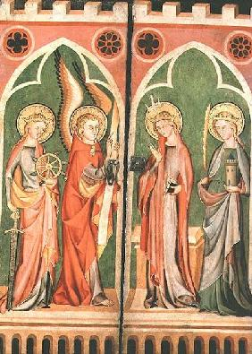 Annunciation with S.S. Barbara and Katherine