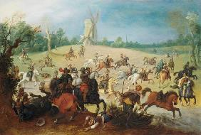 Vrancx, Sebastian : A cavalry battle in a wood...