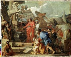 Augustus before the Tomb of Alexander the Great