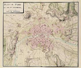 Map of Paris and its Surroundings, from ''Oisivetes''