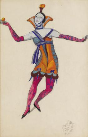 "Costume design for the play ""The Venetian Madcaps"" by M. Kuzmin"