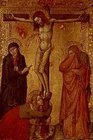 Christ at the cross with Maria, Johannes and Magdalena.