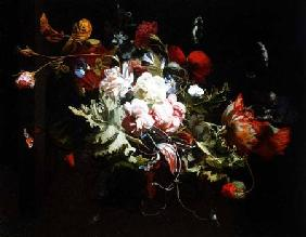 Verelst, Simon Peeterz : Still Life of Flowers on a...
