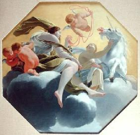 Temperance, from a series of the Four Cardinal Virtues on the ceiling of the Queen's bedroom at Sain