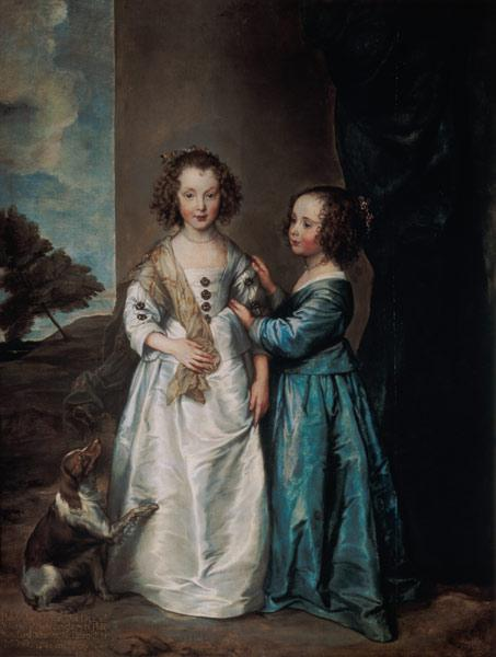 Portrait of Elizabeth and Philadelphia Wharton