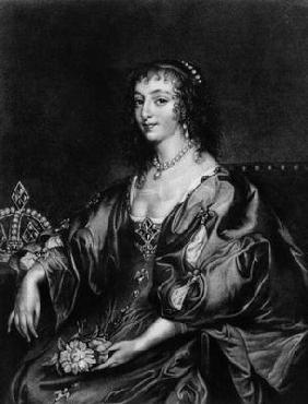 Henrietta Maria (1609-69), illustration from 'Portraits of Characters Illustrious in British History