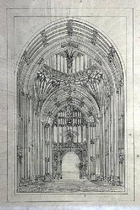 Entrance to the House of Lords, from a folder of New Palace of Westminster drawings  &