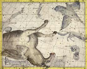 Constellation of Pegasus, plate 25 from 'Atlas Coelestis', by John Flamsteed (1646-1710), published