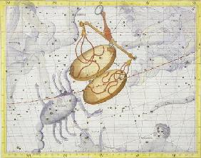 Constellation of Libra, plate 7 from 'Atlas Coelestis', by John Flamsteed (1646-1710), published in