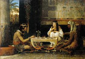 Egyptian couple at the board game
