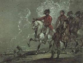 King George III reviewing the 10th Dragoons