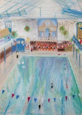 Chelsea Swimming Baths, 1997 (pastel on paper)