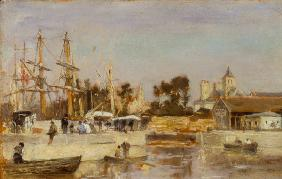 Scene at the port of Caen