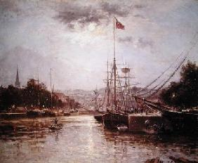 View of the Port of Caen