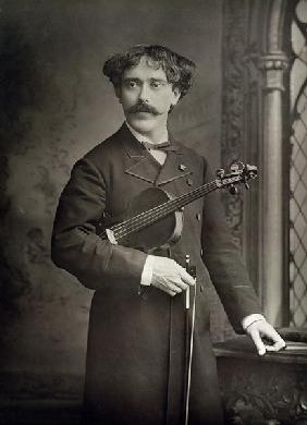Pablo de Sarasate y Navascues (1844-1908), Spanish violinist and composer, portrait photograph (b/w
