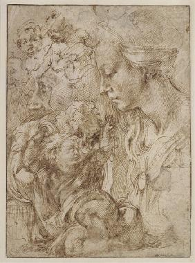 Studies for a Holy Family with John the Baptist as Child