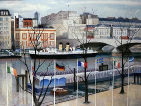 View from the Festival Hall, 2002 (oil on canvas)