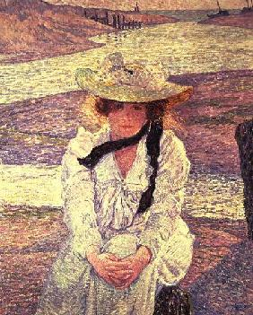 Young Woman on the Banks of the Greve River