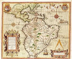Map of Central and South America, from ''Americae Tertia Pars..''