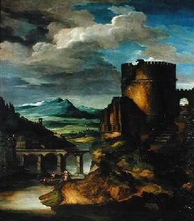 Italian Landscape or, Landscape with a Tomb