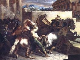 The Wild Horse Race at Rome