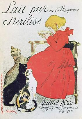 Poster advertising 'Pure Sterilised Milk from La Vingeanne'