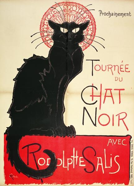 Poster advertising a tour of the Chat Noir Cabaret, 1896 (colour litho)