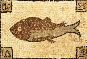 A Roman Mosaic Panel Depicting A Fish