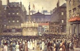 The Presentation of the Restored Market Cross, Edinburgh, to the Magistrates Council by the Right Ho