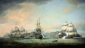 East Indiaman Ceres off St Helena