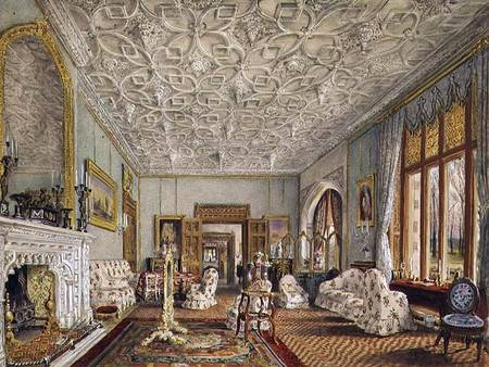 Drawing Room in the Gothic Style Thomas Mann Baynes as art print