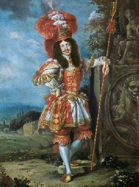 "Leopold I (1640-1705), Holy Roman Emperor, in theatrical costume, dressed as Acis from ""La Galatea"","