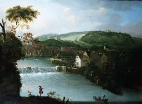 A View of the Abbey Mill and Weir on the River Avon, Bath