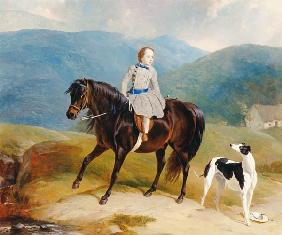Master Edward Coutts Marjoriebanks on his Pony