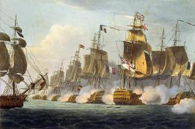 Battle of Trafalgar, October 21st 1805, from 'The Naval Achievements of Great Britain' by James Jenk