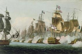 The Battle of Trafalgar, 21st October 1805, engraved by Thomas Sutherland for J. Jenkins's 'Naval Ac
