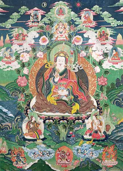 Tanka of Padmasambhava - Tibetan School as art print or hand ...
