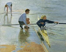 Adjustments at Henley, 1999-2000 (oil on canvas)