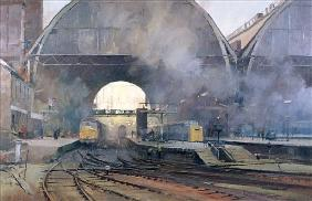 King''s Cross Station (oil on canvas)