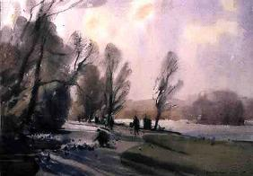 Winter Morning in the Park, 1990 (w/c on paper)