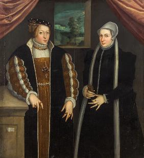 Double-portrait (Marie of Brandenburg-Kulmbach and Christina of Denmark?)