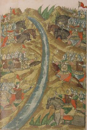 Great Stand on the Ugra river (From the Illuminated Compiled Chronicle)