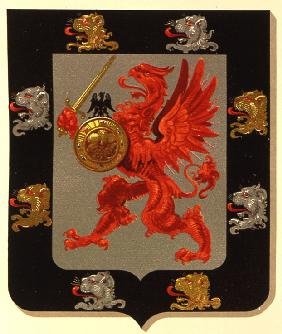 The coat of arms of the Romanov-Holstein-Gottorp dynasty