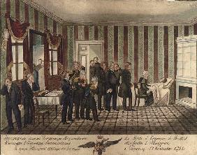 The death of Alexander I of Russia in Taganrog on 19 November 1825