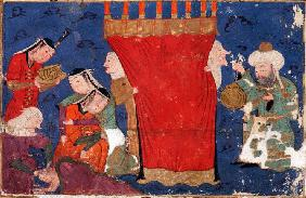 The Birth of Alexander the Great. From: Eskandar-nameh (The Book of Alexander)