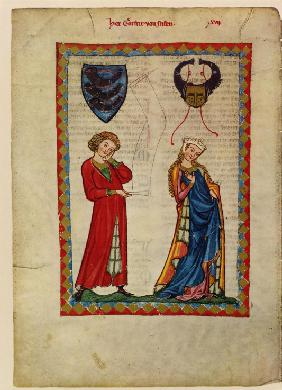 Gottfried von Neifen (From the Codex Manesse)